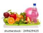 fitness equipment and healthy... | Shutterstock . vector #249629425