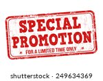 special promotion grunge rubber ... | Shutterstock .eps vector #249634369