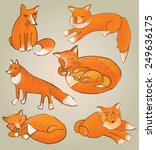 fox print. | Shutterstock .eps vector #249636175