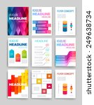 templates. set of web  mail ... | Shutterstock .eps vector #249638734