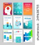 templates. set of web  mail ... | Shutterstock .eps vector #249638755