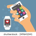 wearable technology design ... | Shutterstock .eps vector #249641041