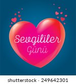 valentine's day and heart ...   Shutterstock .eps vector #249642301