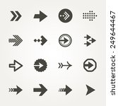 vector arrow signs icon set