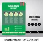 flyer or brochure on business... | Shutterstock .eps vector #249645604
