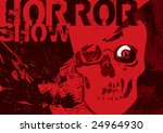 scary poster with skull. vector ... | Shutterstock .eps vector #24964930