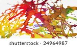 splashes of brightly coloured... | Shutterstock . vector #24964987