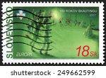 slovakia   circa 2007  post... | Shutterstock . vector #249662599