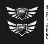 vintage garage retro label... | Shutterstock .eps vector #249663139
