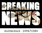 breaking news  foreign money  | Shutterstock . vector #249671584