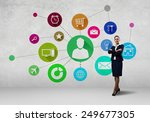 businesswoman and color... | Shutterstock . vector #249677305