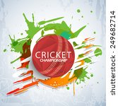 cricket championship concept... | Shutterstock .eps vector #249682714