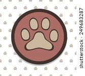 paw icon in paw background....   Shutterstock .eps vector #249683287
