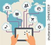 cloud computing. | Shutterstock .eps vector #249693319