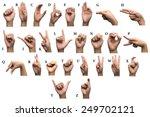 finger spelling the alphabet in ... | Shutterstock . vector #249702121