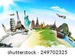 travel the world monument... | Shutterstock . vector #249702325