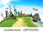 travel the world monument... | Shutterstock . vector #249702331