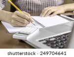image of woman taking note | Shutterstock . vector #249704641