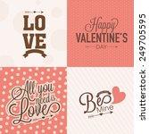 beautiful love greeting card... | Shutterstock .eps vector #249705595