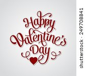 vector happy valentines day... | Shutterstock .eps vector #249708841