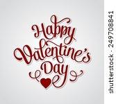 vector happy valentines day... | Shutterstock .eps vector #249708841
