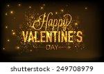 golden elegant text happy...   Shutterstock .eps vector #249708979