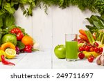 fresh juice  mix fruits and... | Shutterstock . vector #249711697