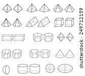 3d geometric shapes vector  | Shutterstock .eps vector #249712159