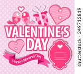 valentines day celebration... | Shutterstock .eps vector #249712819