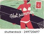 vector cool retro postcard...