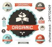 organic flat design retro... | Shutterstock . vector #249732409