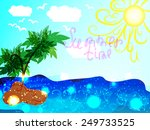 summer time. emblem or symbol... | Shutterstock .eps vector #249733525