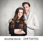 portrait of smiling young... | Shutterstock . vector #249734701