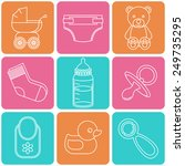 baby icons set | Shutterstock .eps vector #249735295