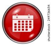 calendar icon. internet button... | Shutterstock .eps vector #249736654