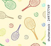 color sketches of tennis... | Shutterstock .eps vector #249737749