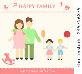 father and pregnant women happy ... | Shutterstock .eps vector #249756379
