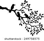 tree silhouette with bird | Shutterstock . vector #249758575