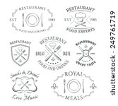 set of heraldic restaurant... | Shutterstock .eps vector #249761719