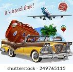 vintage travel  poster.   Shutterstock .eps vector #249765115