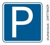 parking sign | Shutterstock .eps vector #249778429
