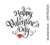 vector happy valentines day... | Shutterstock .eps vector #249781024