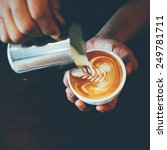 how to make latte art by... | Shutterstock . vector #249781711