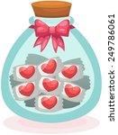 illustration of isolated  heart ... | Shutterstock .eps vector #249786061