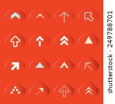 transparent arrows set on red... | Shutterstock . vector #249788701