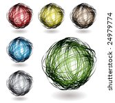 scribble balls with colour... | Shutterstock .eps vector #24979774