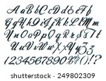 complete alphabet set with... | Shutterstock . vector #249802309