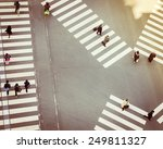 crossing sign top view with... | Shutterstock . vector #249811327
