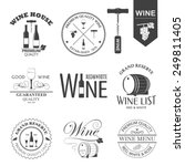 vector set of wine black and... | Shutterstock .eps vector #249811405