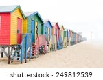 Multi Colored Beach Huts...